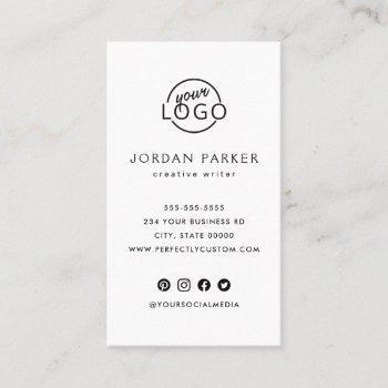 custom logo vertical modern minimalist business card