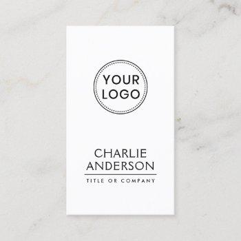 custom logo vertical modern minimalist business card