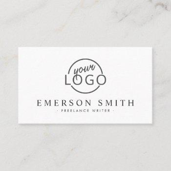 custom logo white modern minimalist business card