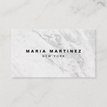 custom luxury boutique gray marble business card