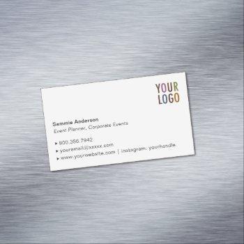 custom magnetic business card elegant minimalist