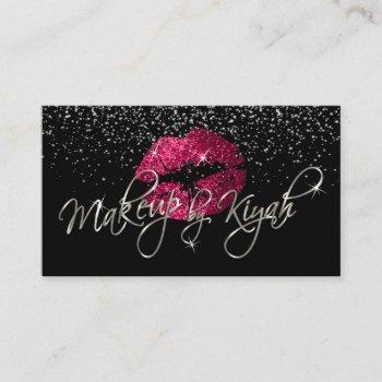 custom - makeup by kiyah business card