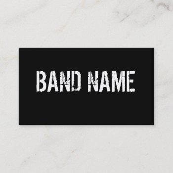 custom modern black & white band business card