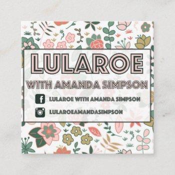custom order for amanda simpson square business card