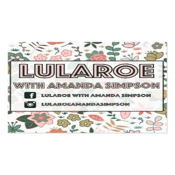 Small Custom Order For Amanda Simpson Square Business Card Front View