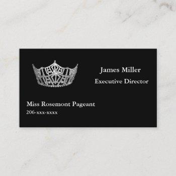 custom pageant business card template