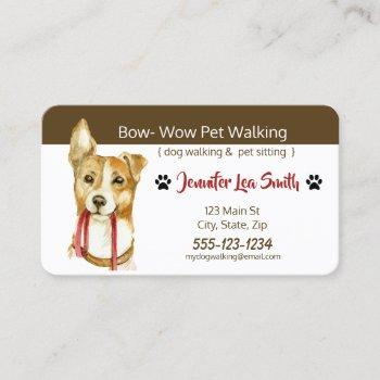 custom pet business cards - dog walking