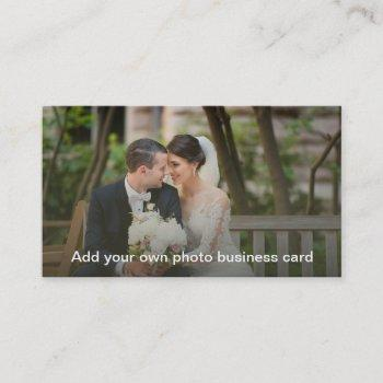 custom photo business card