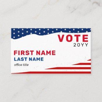 custom political campaign election business card