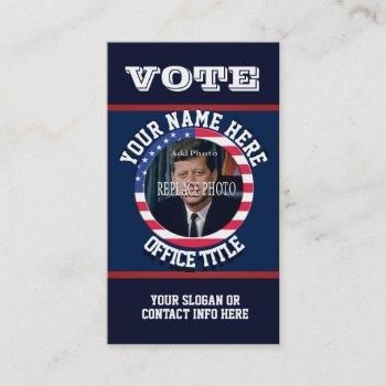 custom political campaign template business card