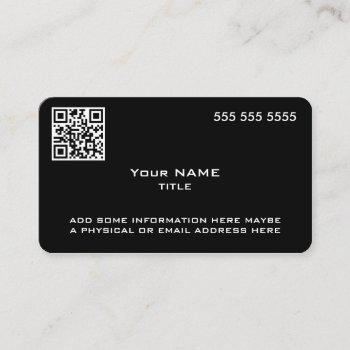 custom qr code modern black business card