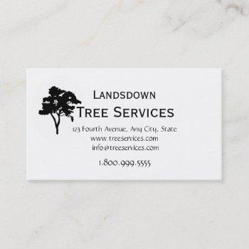 custom tree services business card