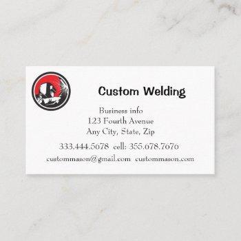 custom welding manufacturing repairs business card