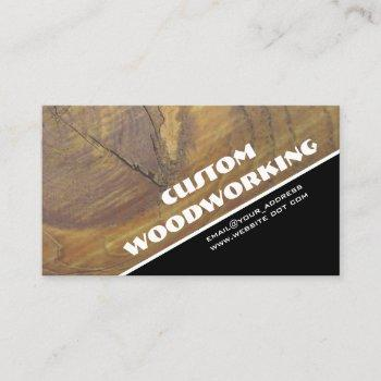 custom wood photo woodworking professional business card