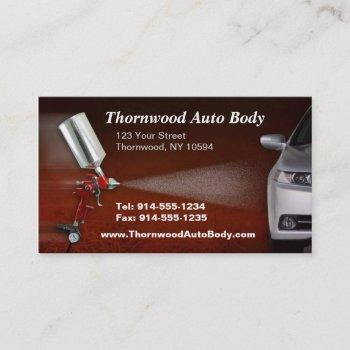 customizable auto body bc business card