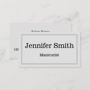 customizable & clean manicurist business card