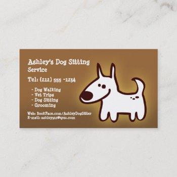 customizable dog sitting, grooming, walking business card