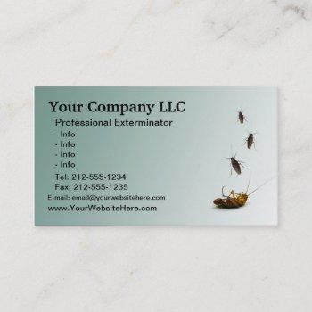 customizable exterminator business card