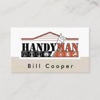 customizable handyman home repair business card
