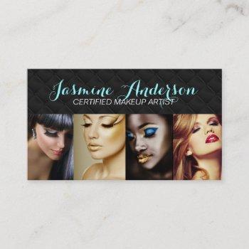 customizable makeup artist business cards