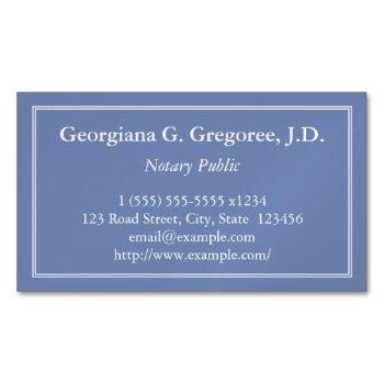 customizable notary public magnetic business card