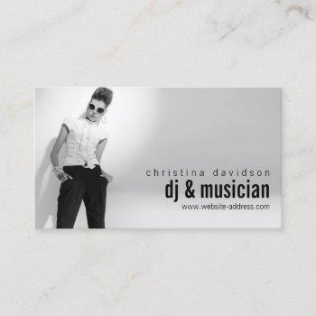 customizable photo card for djs, bands, musicians