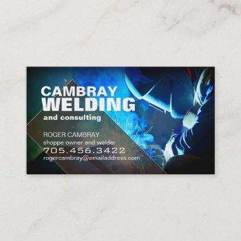 customizable welder consultant business cards