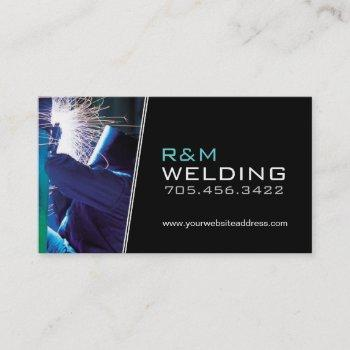 customizable welding business cards