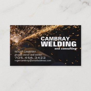customizable welding consultant business cards