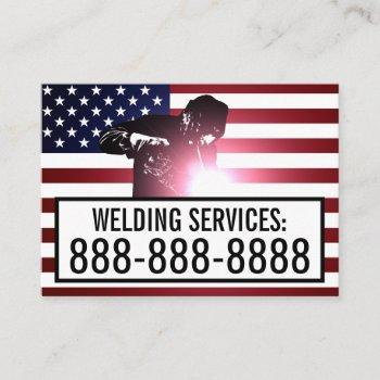 customizable welding services business card