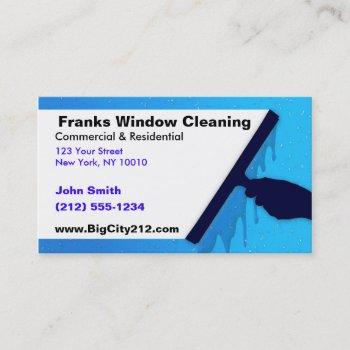 customizable window cleaning bc business card