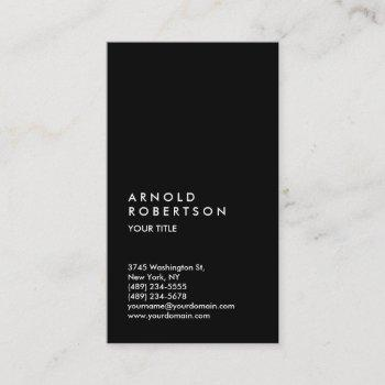 customize text black professional business card
