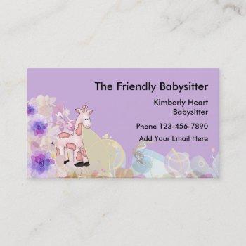 cute babysitter businesscards business card