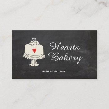 cute cake bake shop caterer business card