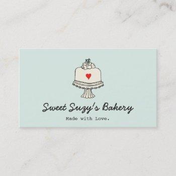 cute cake baker bake shop business card