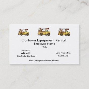 cute cherry picker truck business card