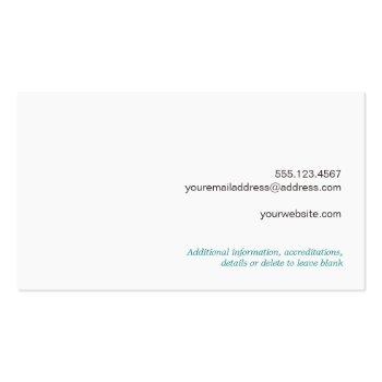 Small Cute Country Rustic Reclaimed Turquoise Wood Business Card Back View