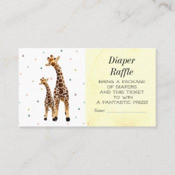 cute giraffe diaper raffle baby shower ticket