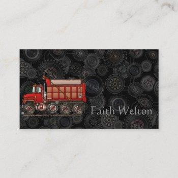 cute gravel dump truck business card