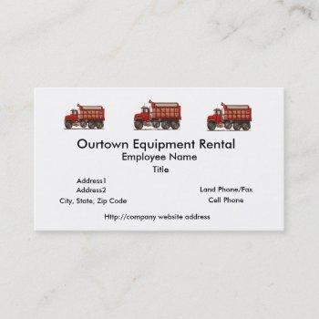 cute gravel dump truck business card