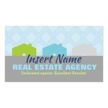 Small Cute Real Estate Agency Business Cards Front View