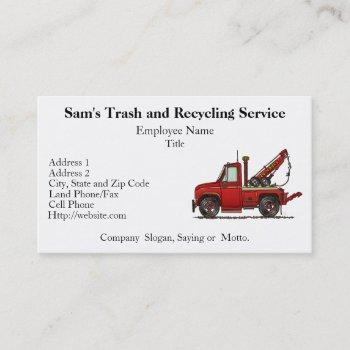 cute tow truck wrecker business card