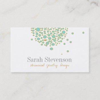 cute whimsical jewelry designer business card