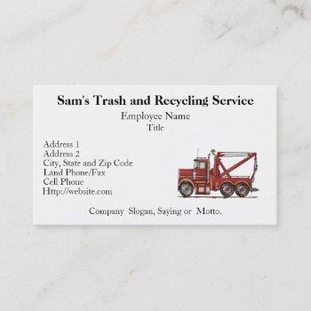 cute wrecker truck business card