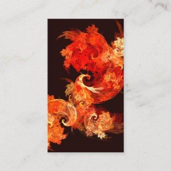 dancing firebirds abstract art business card