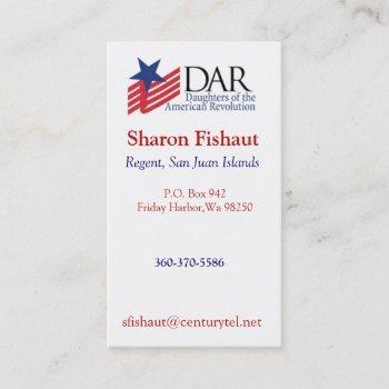dar for mom 2 business card
