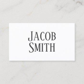 dark grey science fiction author business card