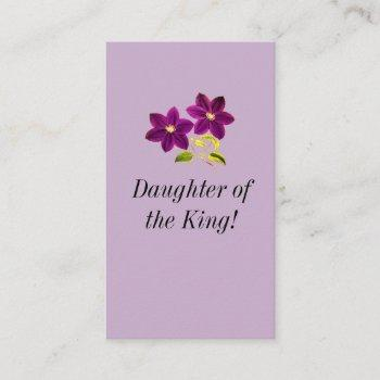 daughter of the king business card