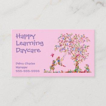 daycare children nature business card