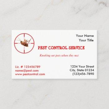 dead roach pest service 1 sided business card v2